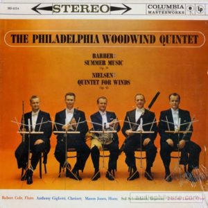The LP of the Quintet's Barber-Nielsen recording