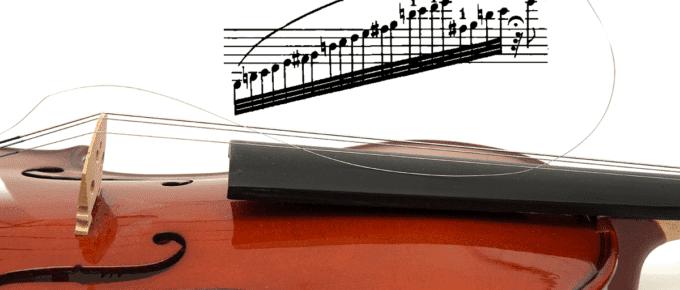 violin with broken E string