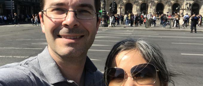 Nathan and Akiko in Paris, 2018