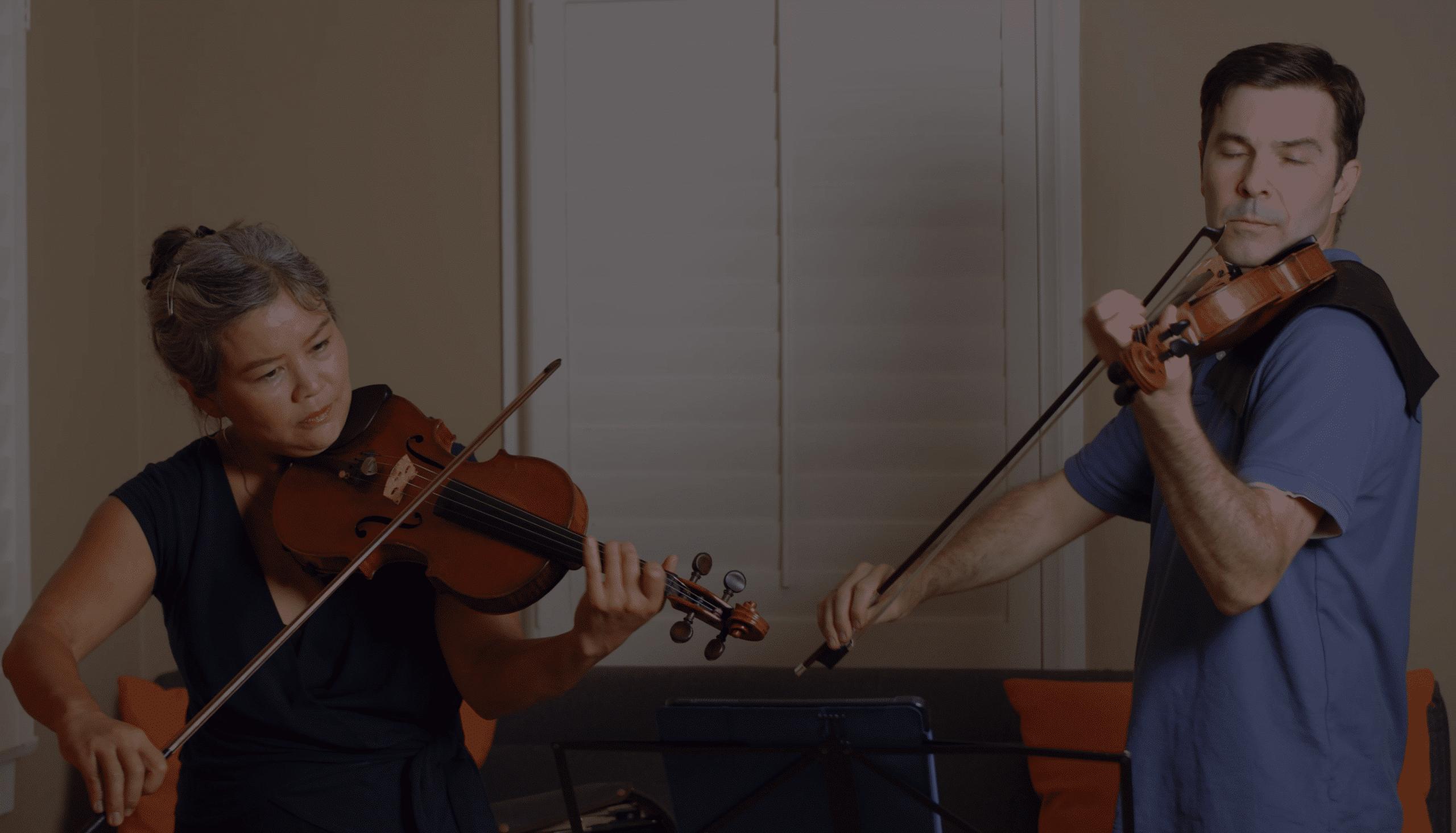 """Akiko and Nathan play """"Alla Saltarella"""""""