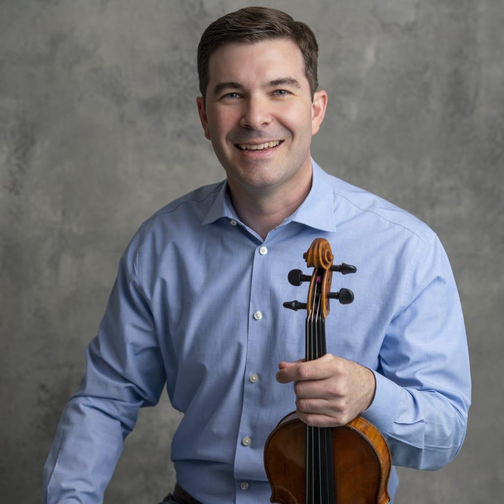 Nathan Cole, violin blue