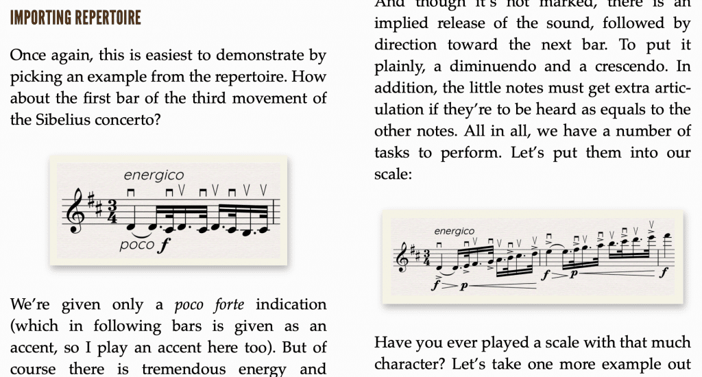 musical examples