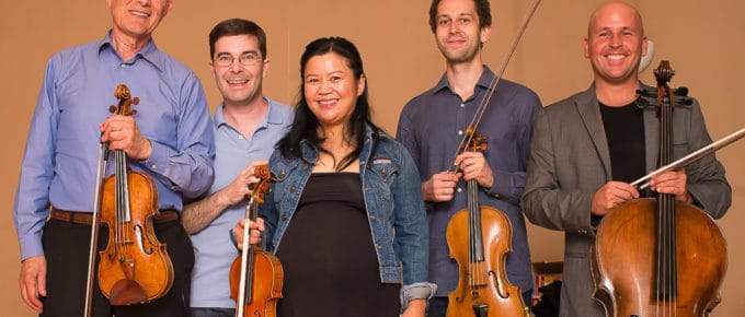 Arnold Steinhardt, Nathan Cole, Akiko Tarumoto (with twins!), Ben Ullery, Robert DeMaine
