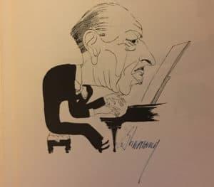 Igor Stravinsky caricature