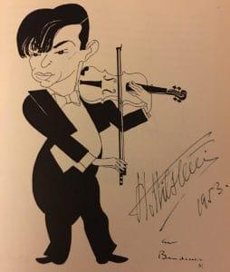 Nathan Milstein caricature