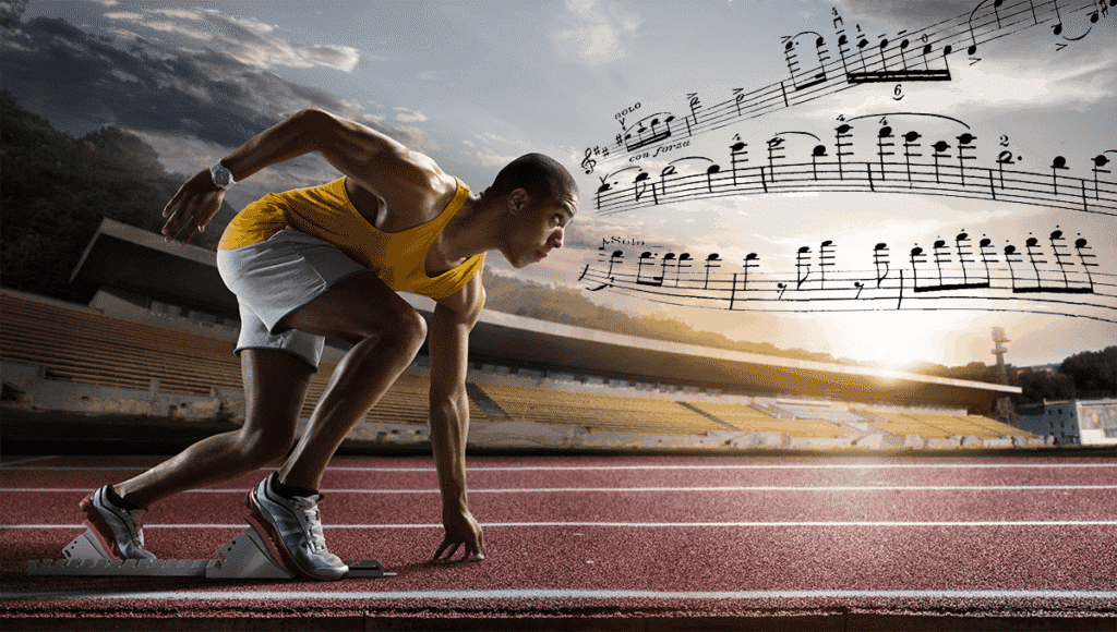 Track runner with violin concerto openings