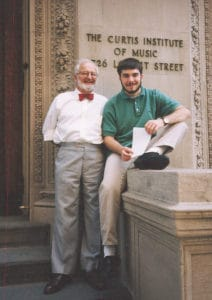 Grandpa and me outside Curtis, 1997